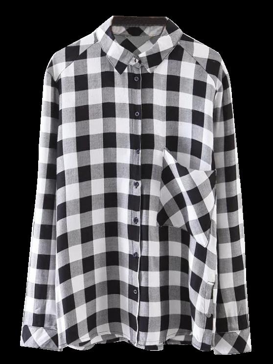 best Pocket Checked Shirt - BLACK S