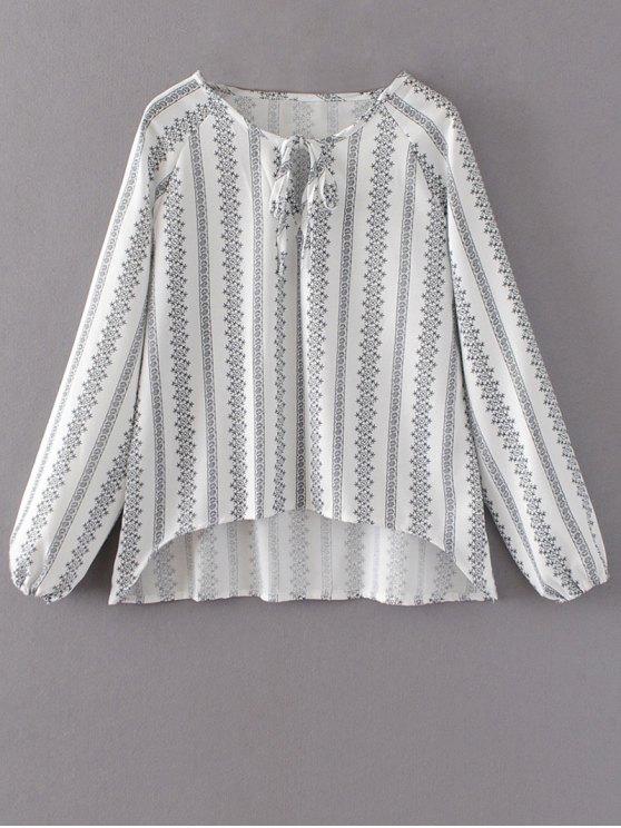 unique Oversized High Low Blouse - WHITE XL