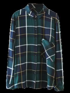 Chemise à Carreaux Avec Poches - Vert L