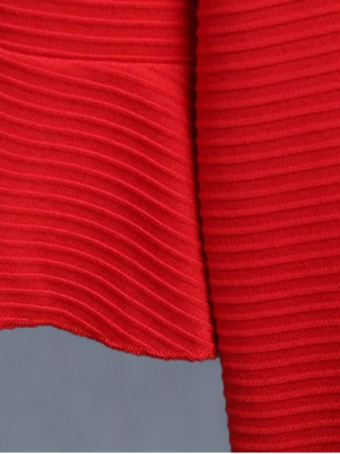 outfits Flounce Trim Drop Waist Jacquard Dress - DEEP BLUE S Mobile