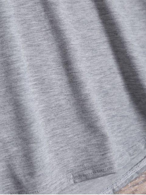 hot Pom Embellished Tee - LIGHT GRAY XL Mobile