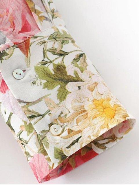 Longue chemise florale à asymétrique - Floral S Mobile