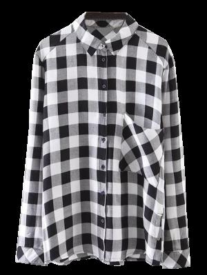 Pocket Checked Shirt - Black