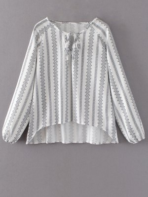 Oversized High Low Blouse - White