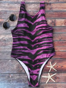 Animal Print High Cut Swimsuit