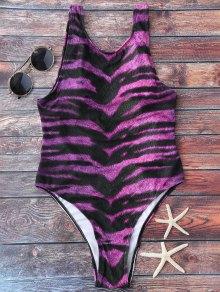 Animal Print High Cut Swimsuit