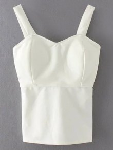 Wide Strap Padded Tank Top