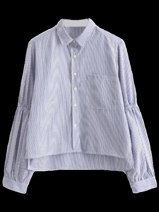 Puff manga rayada bolsillo de la camisa - Raya S