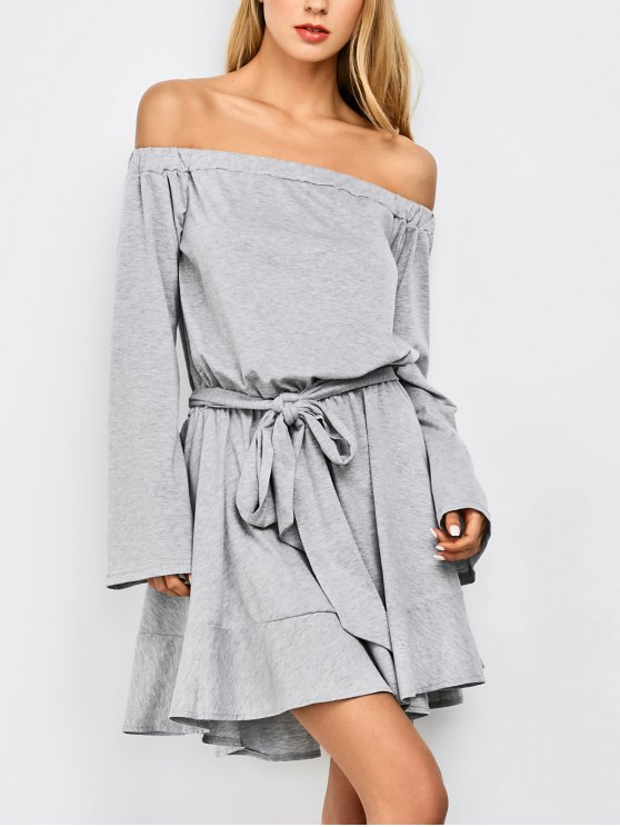 Off The Robe manches Flare - Gris Clair M