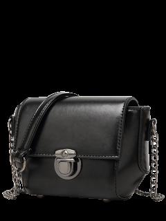 Mini Cross Body Bag With Chains - Black