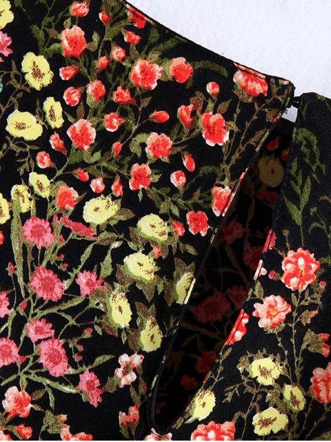 Blouse florale à volants - Floral S Mobile