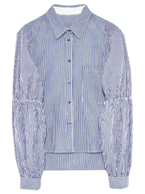 Chemise rayée à manches bouffantes - Rayure S Mobile