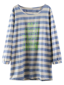 Loose Striped Letter Top