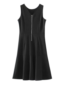 Peplum Hem Sleeveless Sheath Dress