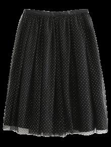 Golden Thread Tulle Layered Skirt