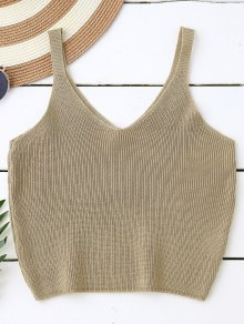 Knitting Cropped Tank Top
