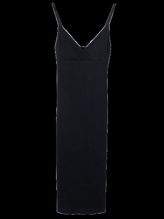 Slip Sobrepelliz Slinky vestido del tanque - Negro M