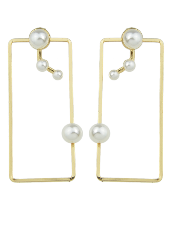 outfit Artificial Pearl Geometric Ear Jackets - GOLDEN