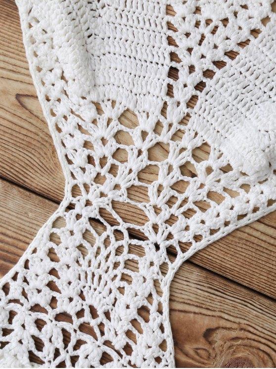 High Cut Crochet Swimwear - WHITE ONE SIZE Mobile
