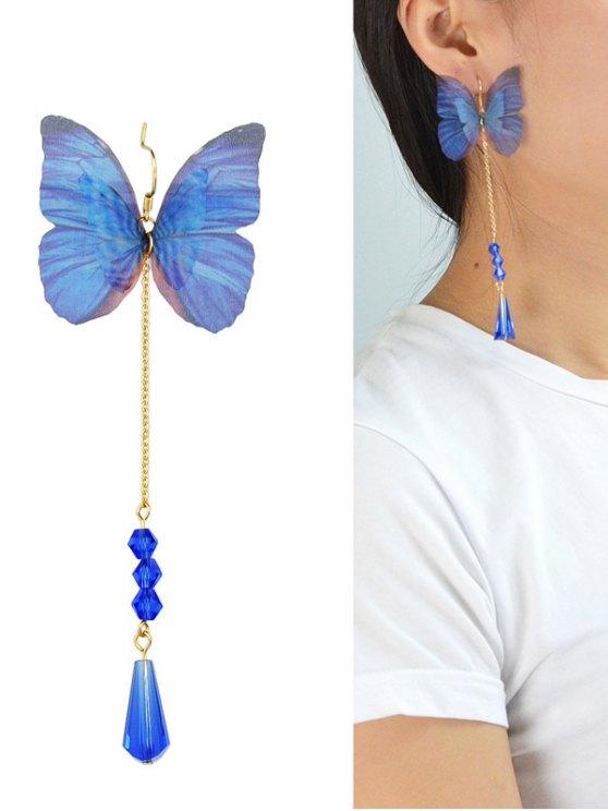 Une pièce de boucle d'oreille papillon à pendant - Bleu