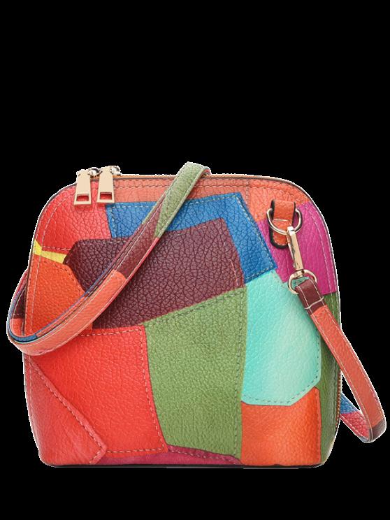 women's Zip Around Color Blocking Cross Body Bag - JACINTH