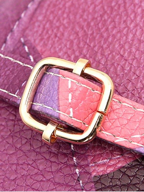 Zip Around Color Blocking Cross Body Bag - JACINTH  Mobile