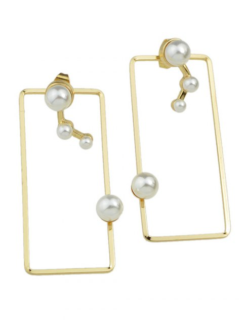 outfit Artificial Pearl Geometric Ear Jackets - GOLDEN  Mobile