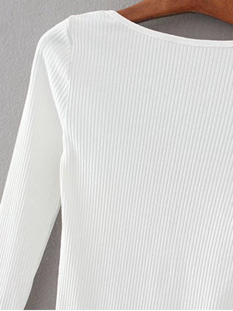 women Low Back Ribbed Bodysuit - GRAY S Mobile