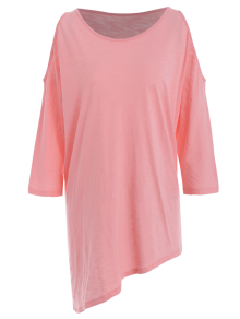 Oversized Cold Shoulder Tunic T-Shirt