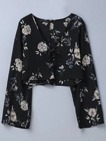 Cropped Floral Blouse