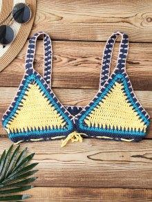 Color Block Crochet Bikini Bra