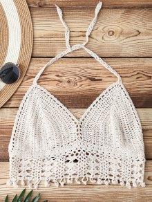 Halter Crochet Bikini Bra