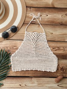 Crochet High Neck Swim Top