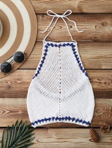 Crochet Cute Cropped Bathing Suit Top