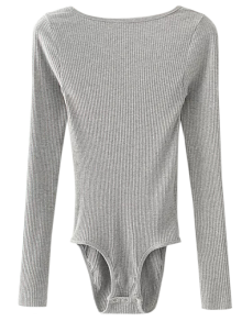 Low Back Ribbed Bodysuit