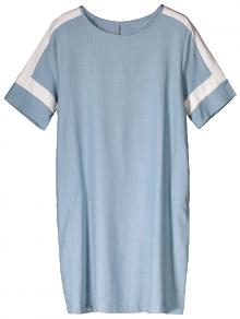 Bloque de color de lino del vestido ocasional