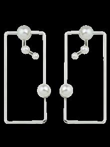 Artificial Pearl Geometric Ear Jackets