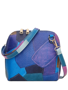 Zip Around Color Blocking Cross Body Bag