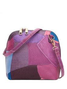 Zip Around Color Blocking Cross Body Bag