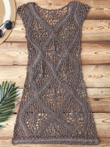 Crochet V Neck Cover Up