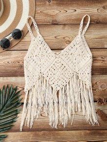 Fringed Crochet Bikini Top