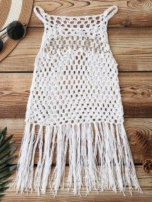Fringed Crochet Cover Up