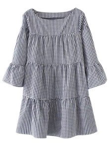 Casual Checked Straight Dress