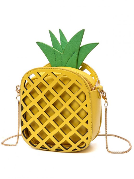 Funny Pineapple Shaped Crossbody Bag - YELLOW  Mobile