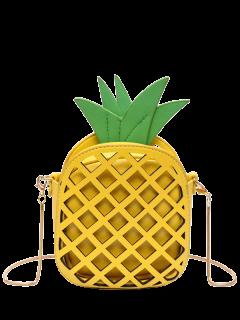 مضحك الأناناس على شكل حقيبة كروسبودي - الأصفر