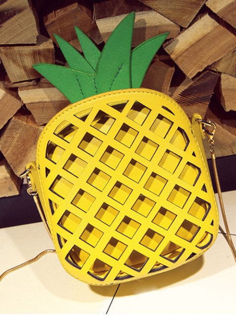 online Funny Pineapple Shaped Crossbody Bag - YELLOW  Mobile