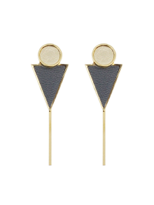 Triangle Circle Bar Earrings