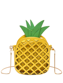 Funny Pineapple Shaped Crossbody Bag - Yellow