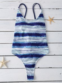 Lace Up Tye-Dyed Swimwear
