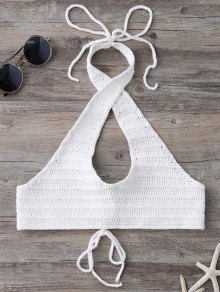 Hollow Out Halter Knitted Bra